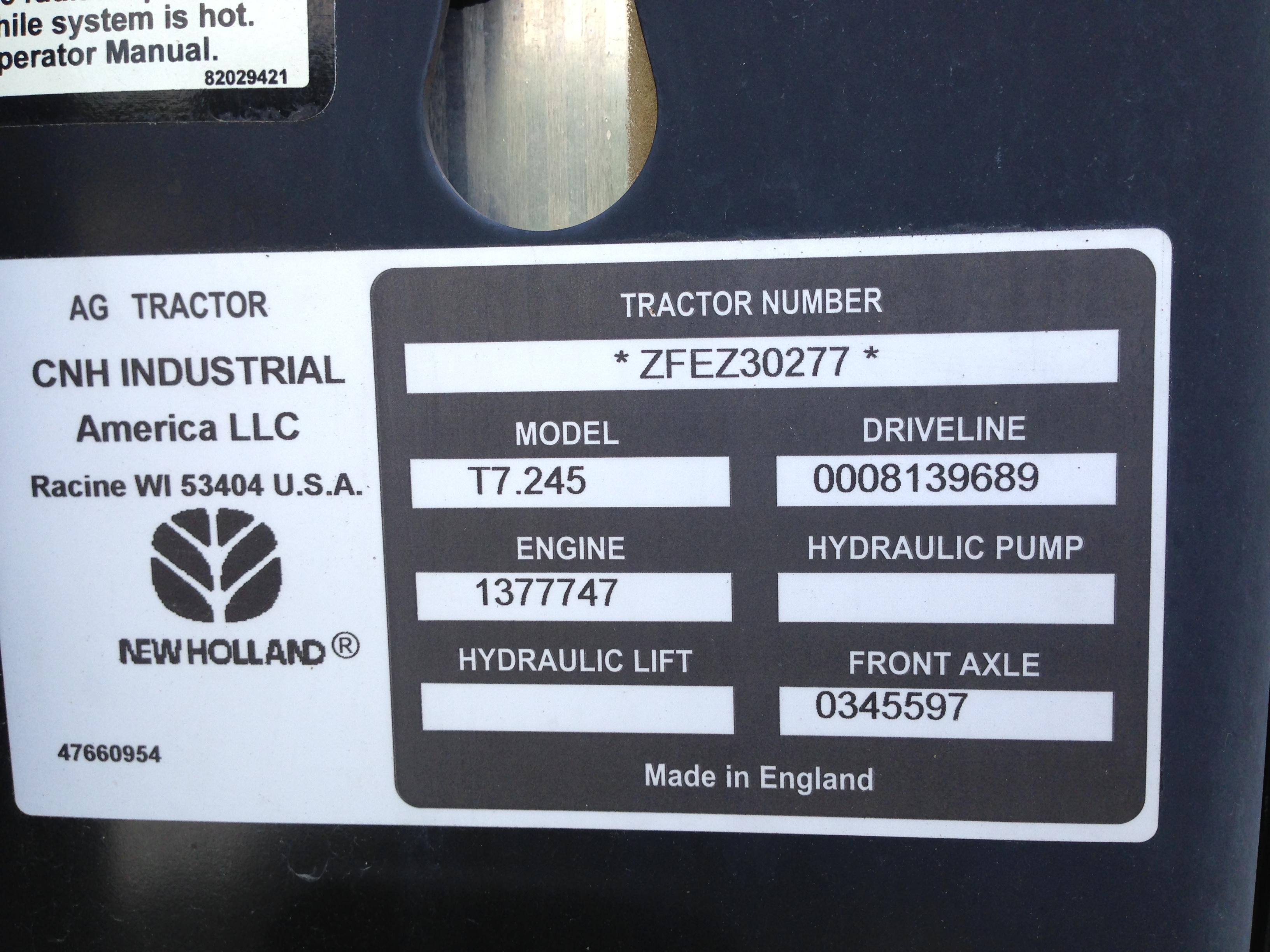 NEW HOLLAND T7 245, Demo tractor 30 hrs, Full Powershift, 31
